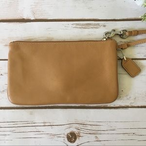Coach Bags - New Coach tan leather Wristlet Wallet
